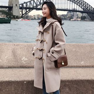 Long Hooded Duffle Coat from Ariadne