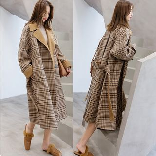 Plaid Double Breasted Coat from Ariadne