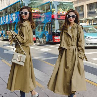 Sashed Long Trench Coat from Ariadne