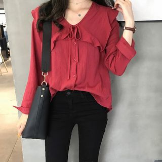 Frilled Collar Blouse from Arroba