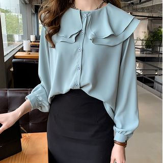 Long-Sleeve Ruffled Blouse from Arroba