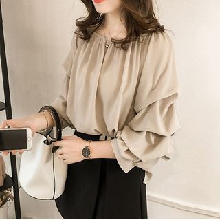 Off-Shoulder Chiffon Blouse from Arroba