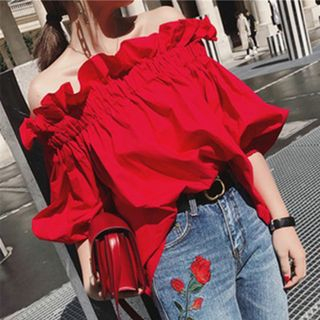 Off Shoulder Elbow-Sleeve Blouse from Arroba