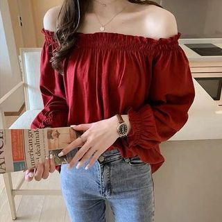 Off Shoulder Long-Sleeve Top from Arroba