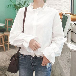Ruffle Trim Blouse from Arroba