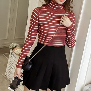 Turtleneck Striped Knit Top from Arroba