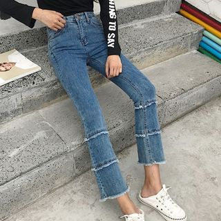Cropped Boot-Cut Jeans from Ashlee