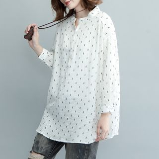 Dotted Long-Sleeve Blouse from Ashlee