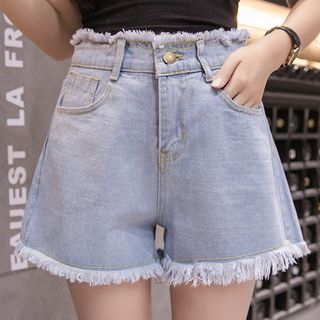 Fray Hem Denim Shorts from Ashlee
