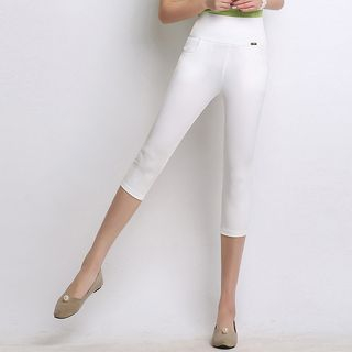 Plain Capri Skinny Pants from Ashlee