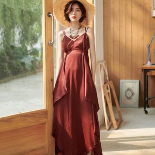 Spaghetti Strap Maxi Sundress from Ashlee