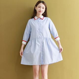 Striped A-Line Shirtdress from Ashlee