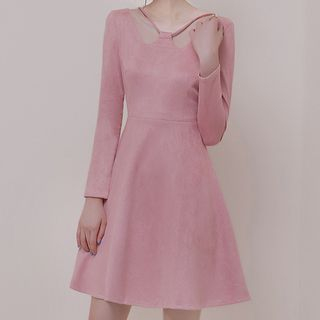Long-Sleeve Mini A-Line Dress from Aurora