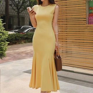 Sleeveless Plain Maxi Dress from Aurora