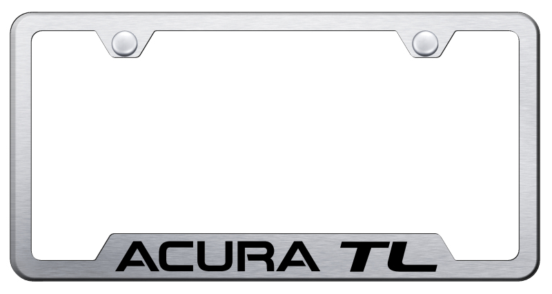 Acura TL Laser Etched Brushed Stainless Steel Cut-Out Frame from Automotive Gold