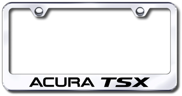 Acura TSX Laser Etched Stainless Steel License Plate Frame from Automotive Gold