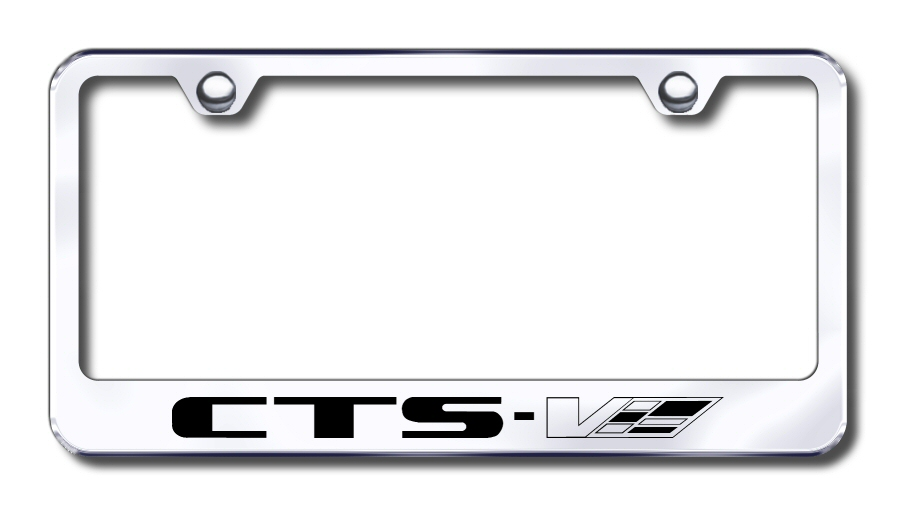 Cadillac CTS-V Laser Etched Stainless Steel License Plate Frame from Automotive Gold