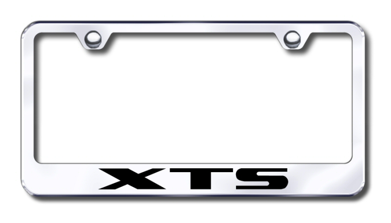 Cadillac XTS Laser Etched Stainless Steel License Plate Frame from Automotive Gold