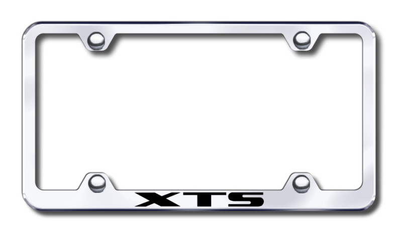 Cadillac XTS Laser Etched Stainless Steel Wide License Plate Frame from Automotive Gold