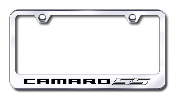 Chevy Camaro SS Laser Etched Stainless Steel License Plate Frame from Automotive Gold