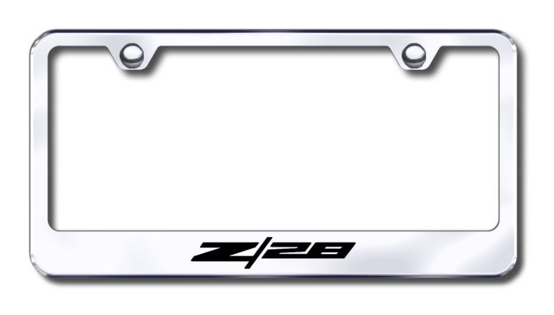 Chevy Camaro Z/28 Laser Etched Stainless Steel License Plate Frame from Automotive Gold