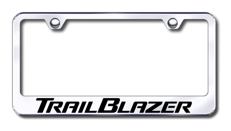 Chevy Trailblazer Laser Etched Stainless Steel License Plate Frame from Automotive Gold