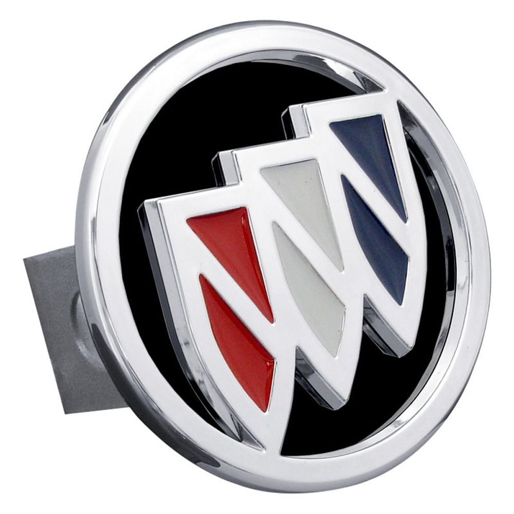 Chrome Tri-Color Buick Logo Black Fill Stainless Steel Hitch Plug from Automotive Gold