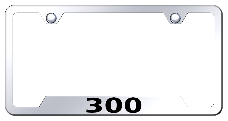 Chrysler 300 Laser Etched Stainless Steel Cut-Out License Plate Frame from Automotive Gold
