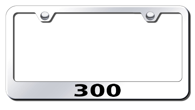 Chrysler 300 Laser Etched Stainless Steel License Plate Frame from Automotive Gold