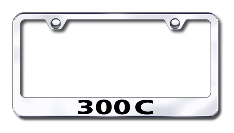 Chrysler 300C Laser Etched Stainless Steel License Plate Frame from Automotive Gold