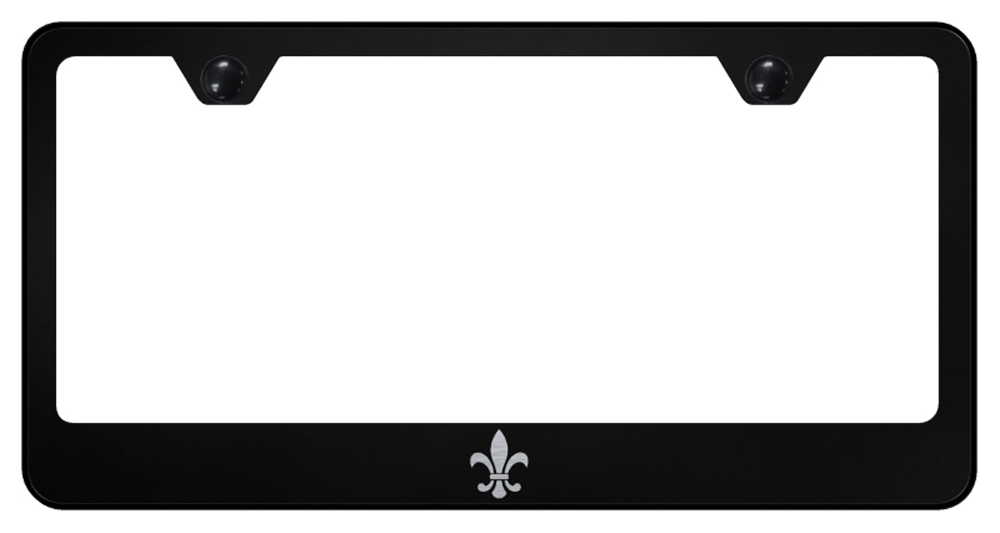 Fleur-De-Lis Laser Etched Stainless Steel License Plate Frame -  Gold from Automotive Gold