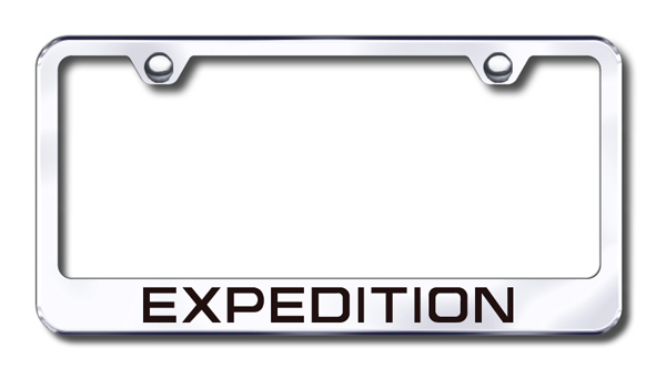 Ford Expedition Laser Etched Stainless Steel License Plate Frame from Automotive Gold
