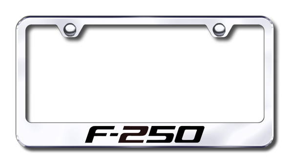 Ford F250 Laser Etched Stainless Steel License Plate Frame from Automotive Gold