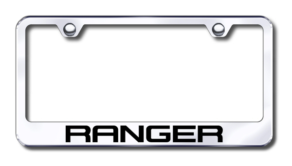 Ford Ranger Laser Etched Stainless Steel License Plate Frame from Automotive Gold