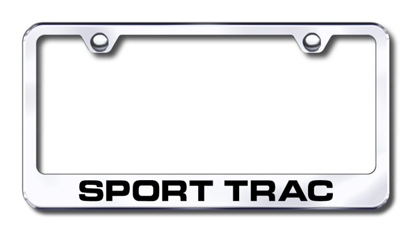 Ford Sport Trac Laser Etched Stainless Steel License Plate Frame from Automotive Gold