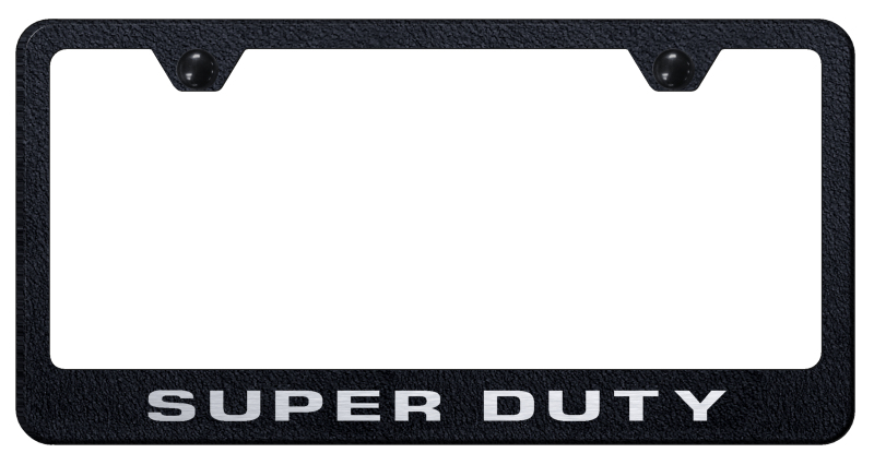 Ford Super Duty Laser Etched Stainless Steel License Plate Frame -  Textured Black from Automotive Gold