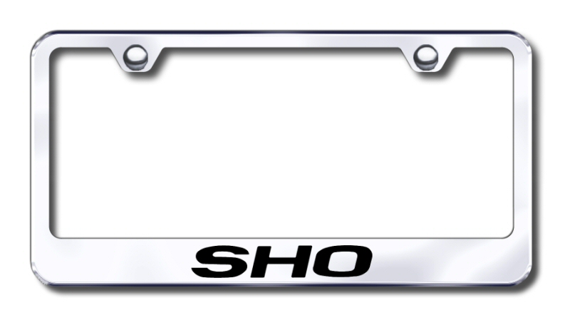 Ford Taurus SHO Laser Etched Stainless Steel License Plate Frame -  Black from Automotive Gold