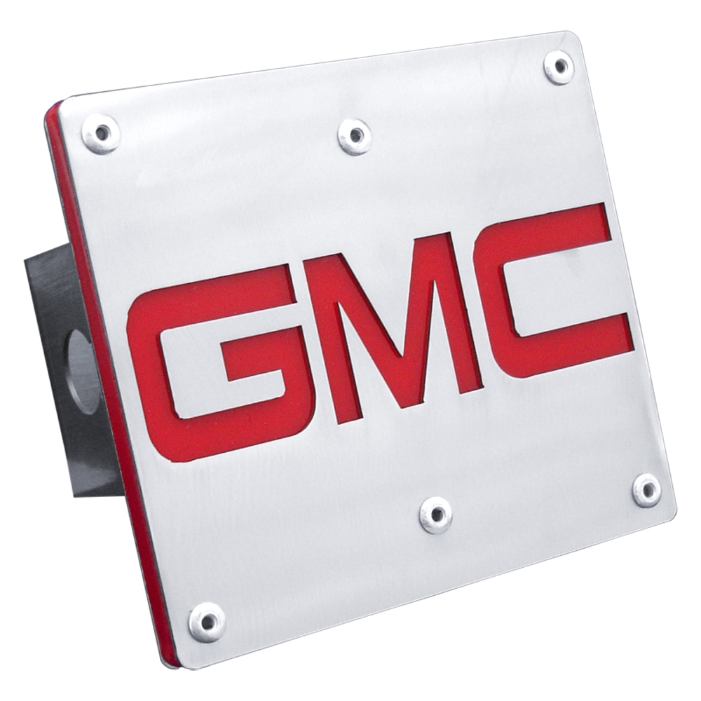 GMC Class III Brushed Stainless Steel Hitch Plug from Automotive Gold