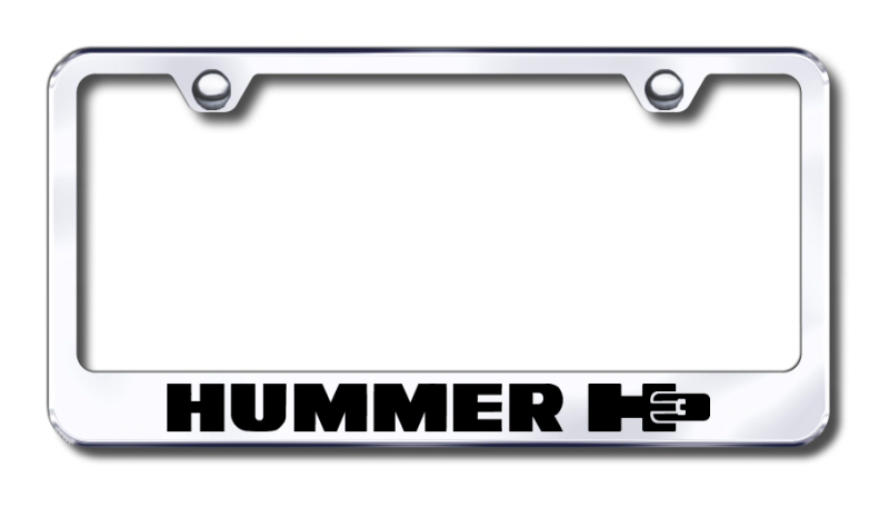 Hummer H3 Laser Etched Stainless Steel License Plate Frame from Automotive Gold