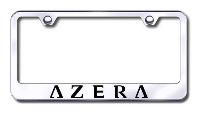 Hyundai Azera Laser Etched Stainless Steel License Plate Frame from Automotive Gold