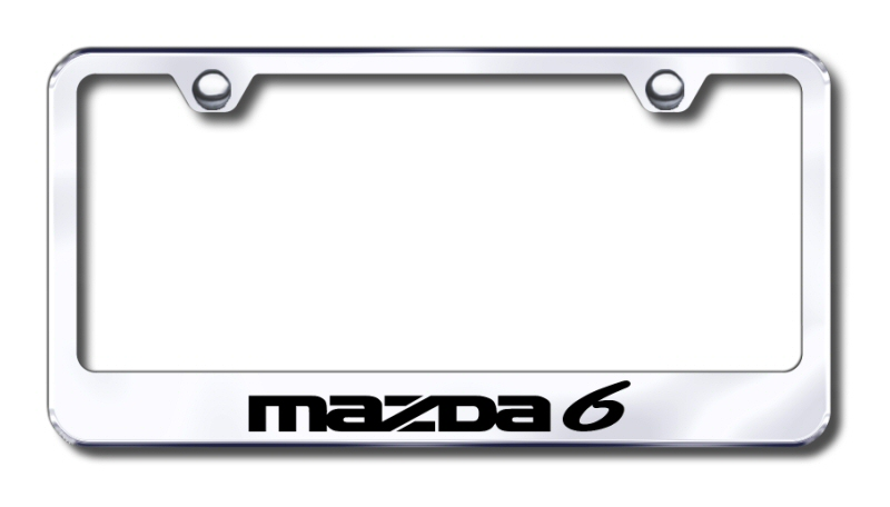 Mazda 6 Laser Etched Stainless Steel License Plate Frame from Automotive Gold