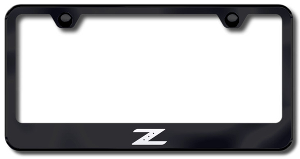 Nissan Z Logo Laser Etched Stainless Steel License Plate Frame from Automotive Gold