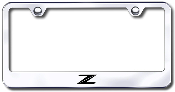 Nissan Z Stylized Logo Laser Etched Stainless Steel License Plate Frame from Automotive Gold