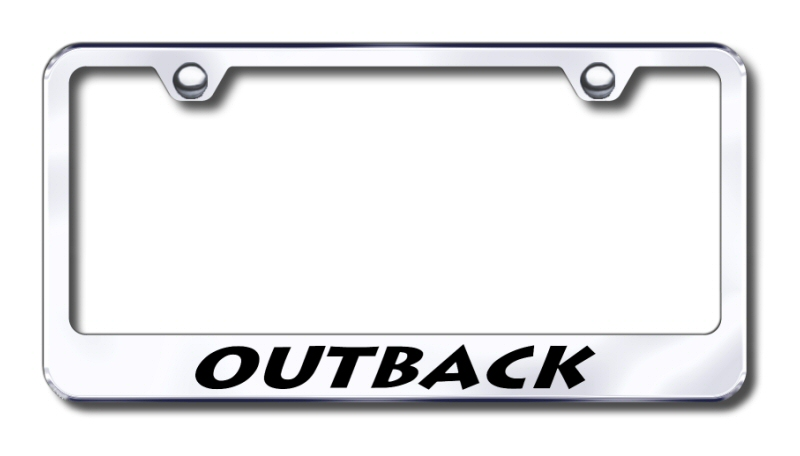 Subaru Outback Laser Etched Stainless Steel License Plate Frame from Automotive Gold