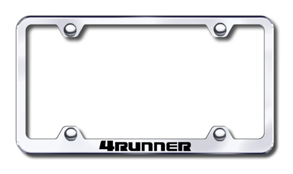 Toyota 4Runner Laser Etched Stainless Steel Wide License Plate Frame from Automotive Gold