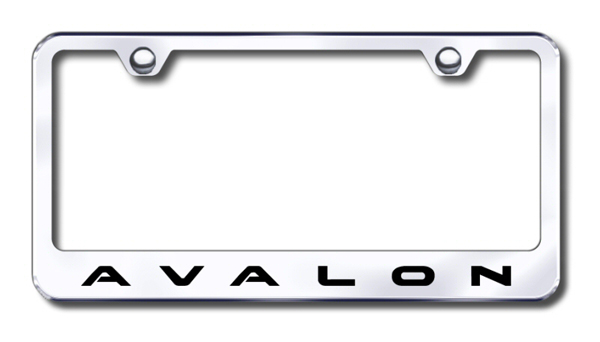 Toyota Avalon Laser Etched Stainless Steel License Plate Frame from Automotive Gold