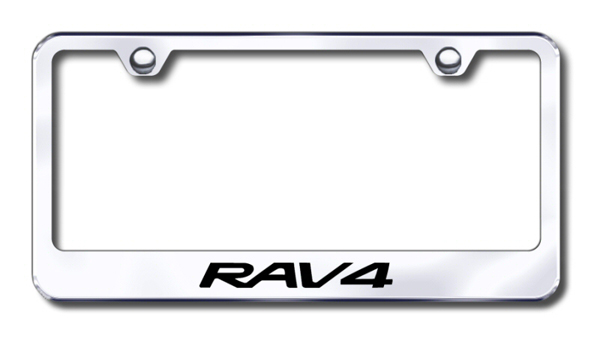 Toyota RAV4 Laser Etched Stainless Steel License Plate Frame from Automotive Gold