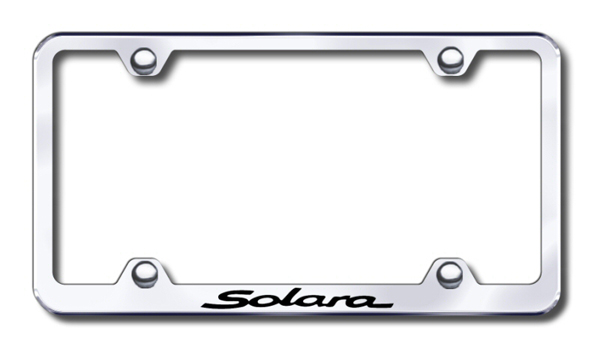 Toyota Solara Laser Etched Stainless Steel Wide License Plate Frame from Automotive Gold