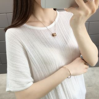 Short-Sleeve Knit Top from Autunno