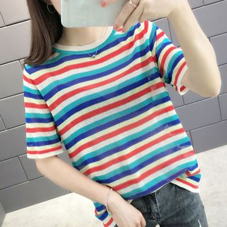 Short-Sleeve Striped Top from Autunno